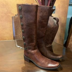 Nicole cowgirl leather boots